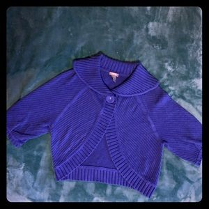 Kenneth Cole Reaction X-Small Bright Blue Shrug